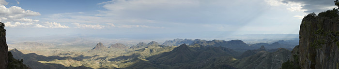 Another panoramic view of our own mystical wonderland right here in Texas.