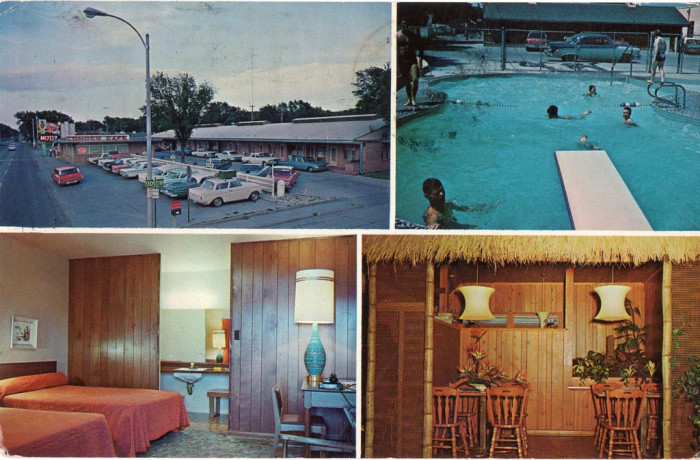 A postcard from the Conoco Motel in Grand Island, sometime in the '60s.