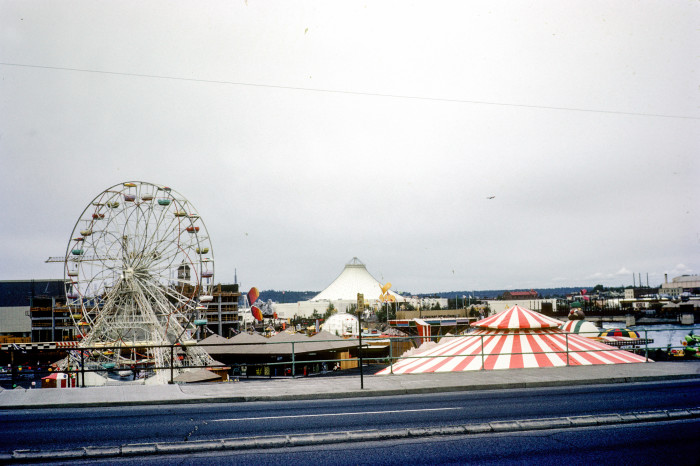 1. We hosted the first environmentally-themed World's Fair in Spokane in 1974. Here was a great view of the  fairgrounds from the road.