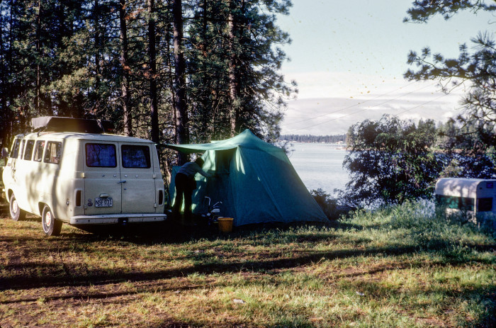 12. Going camping near the small town of Medical Lake, just outside of Spokane. Taken in 1974.