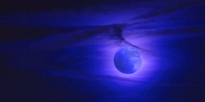 5) A mysterious blue moon over Baltimore County, fit for a werewolf.