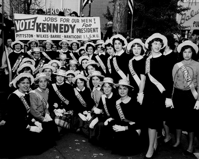 5. Here's a photo that's especially timely: a Kennedy Rally that took place in Wilkes-Barre on November 15, 1960.