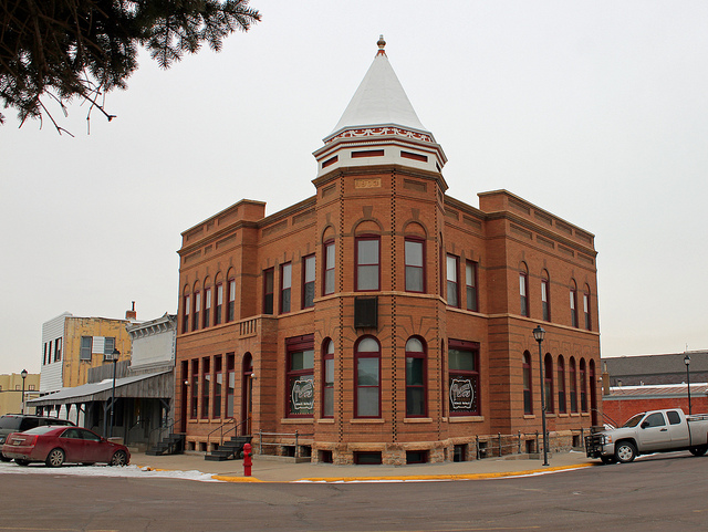 Stockgrowers Bank Building and Former General Store in Fort Pierre, South Dakota.
