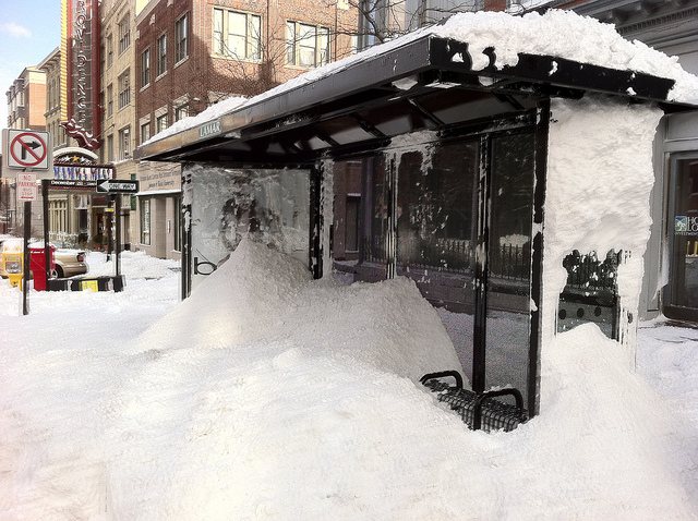 9. If you made it through winter 2015 in Rhode Island, you know - the one with record breaking snow accumulation, give yourself a pat on the back. We might not want to talk about it, but we all recognize photos like this with snow covered walkways and bus stops.