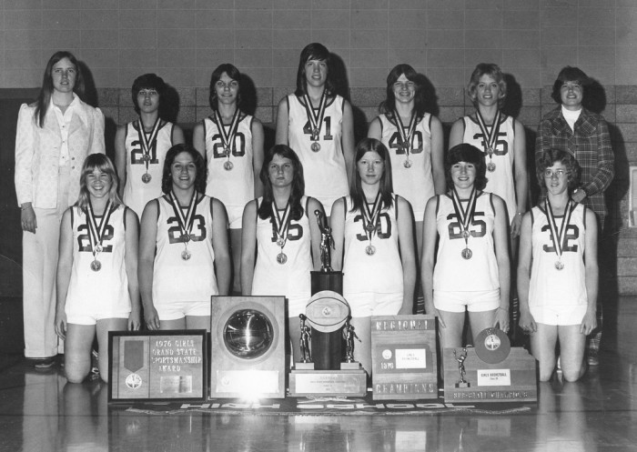 "14. ""Kansas Women's Basketball 2A State Champions 1976 - Hill City, KS."""