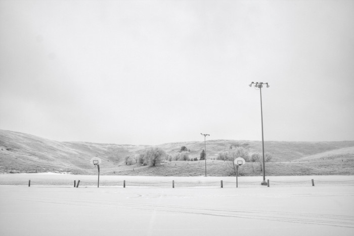 Whiteout in the hills - spots in south dakota