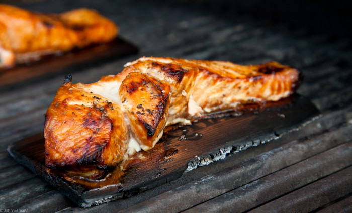 4. Cedar planked salmon