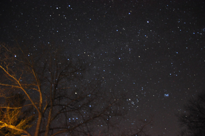 15. The winter night in Harrisville is perfect for star gazing.