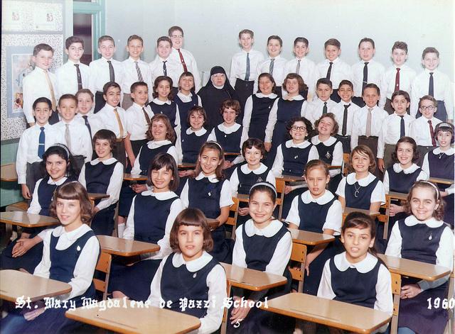 3. A class at St. Mary Magdalen de Pazzi Grade School in Philadelphia in 1960.