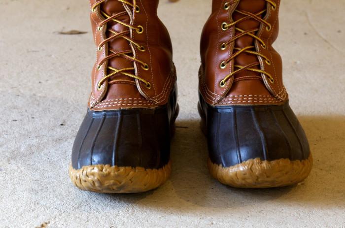 10. We all wear L.L. Bean Duck Boots.