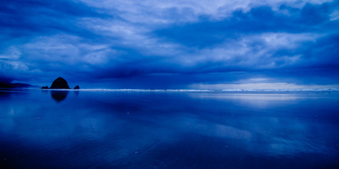 9. A blue horizon at Cannon Beach: