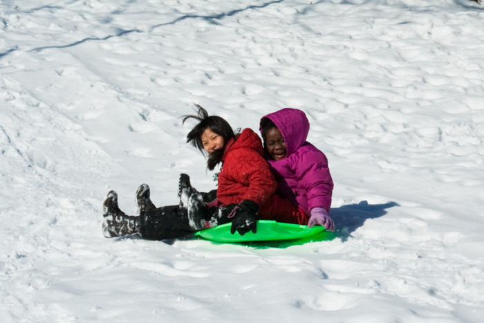10. At Split Rock Creek (not Lighthouse!) State Park you find an amazing sledding hill above the summer boat landing.