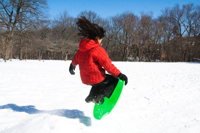 how to go sledding without a sled