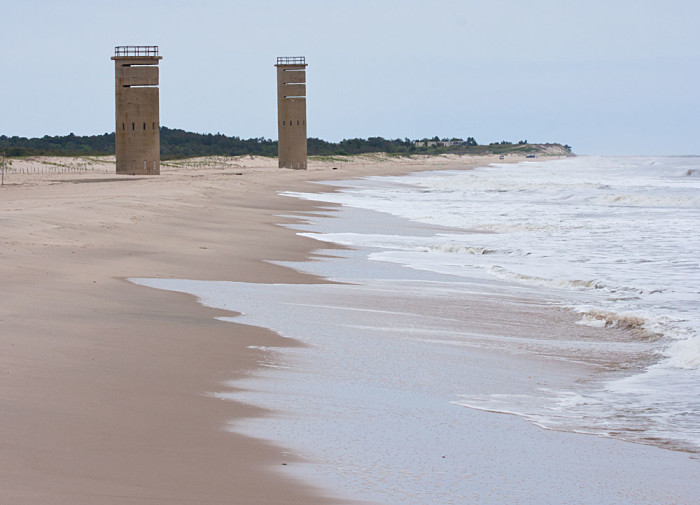 2. WWII Towers dotted along the Atlantic Coast