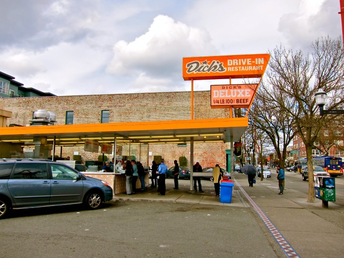 3. You've enjoyed a meal from Dick's...and Ivar's.