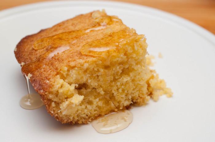 5. Moist, delectable cornbread cake.