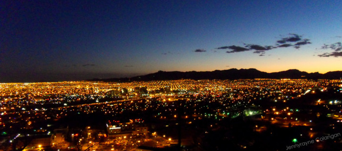 5. Watch the lights come up over El Paso on Scenic Drive