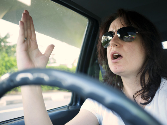 4. Your sweet darling might turn into a raging beast on the road. A lady on the street, a freak on the highway.