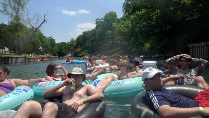13. Because it's normal here to spend an entire day leisurely floating on the river.