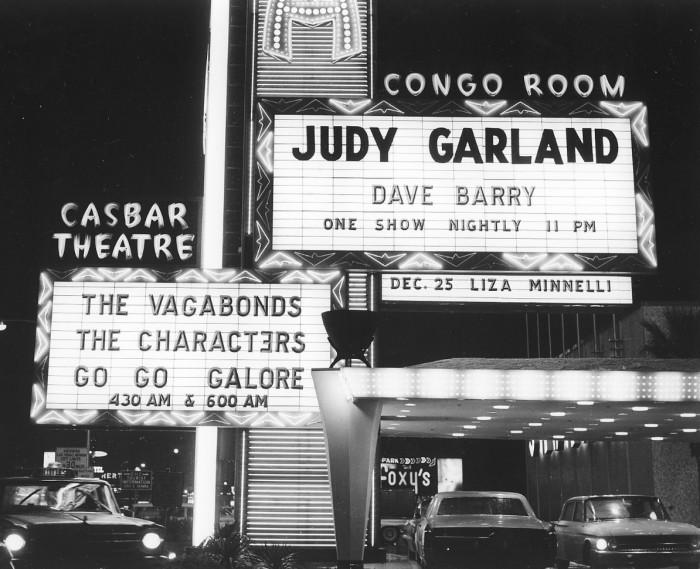 13. Judy Garland at the Sahara in Las Vegas on December 9, 1965.