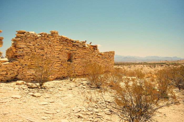 3. Abandoned ghost town building (Terlingua)