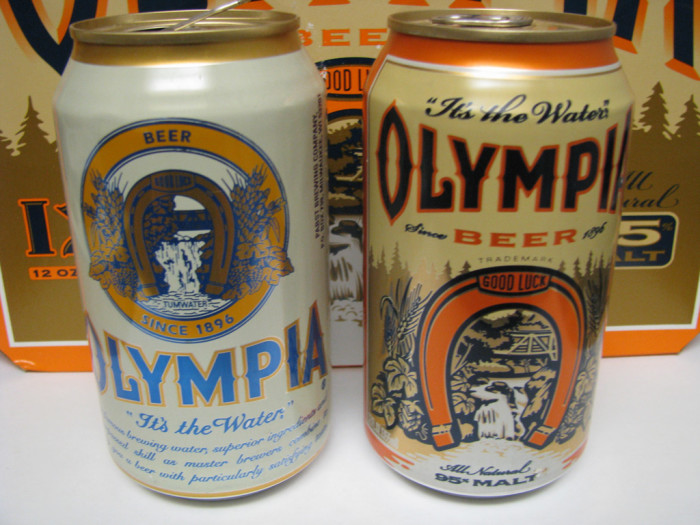 9. Drinking a Rainier or Olympia Beer that was brewed locally.