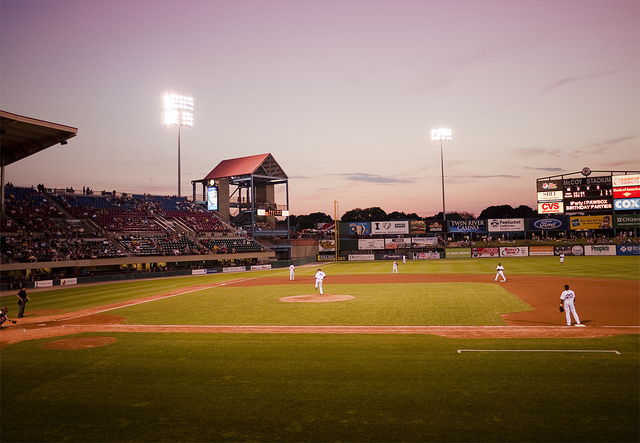 9. McCoy Stadium isn't just a great place to catch a Pawsox game. It's also perfect to see a uniquely Rhode Island sunset.