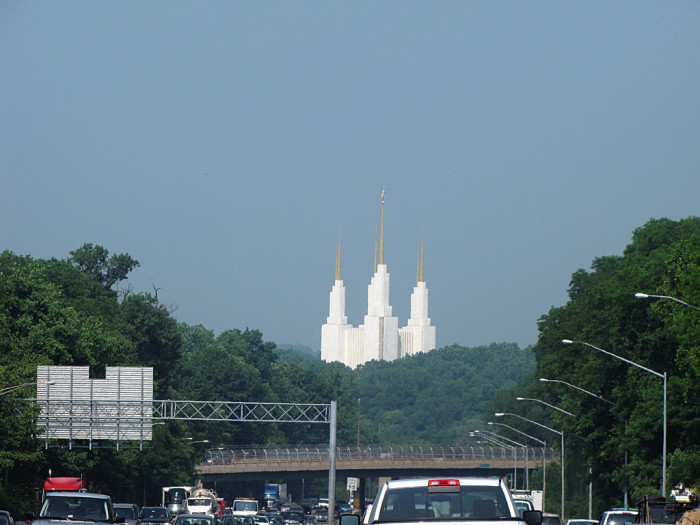1. The view of the Mormon Temple from 495... although as a child, you probably thought it was Disney World.