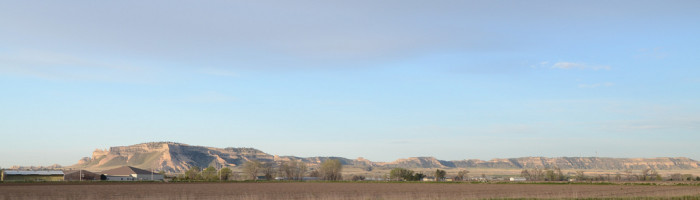 15. This panoramic view catches the Scottsbluff skyline in all its glory.