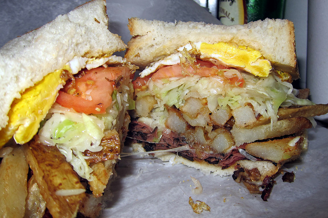 11. You put french fries on your sandwiches... And in your salads.