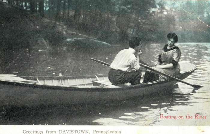"22. ""Boating on the River: Greetings from Davistown, Pennsylvania"""