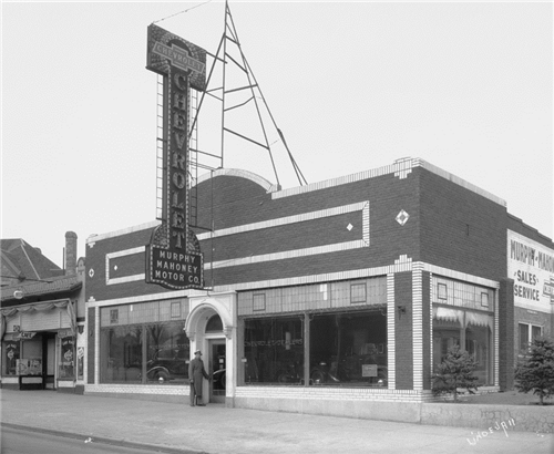 "7. ""Murphy Mahoney Motor Co., Chevrolet."" (1934)"