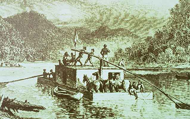 6. During the 19th century, a majority of traffic on the Trace was from travelers known as Kaintucks. Kaintucks were boatmen who would send merchandise such as agricultural goods, coal, and livestock down the Mississippi River on flatboats and then travel back north on foot via the famous trail.