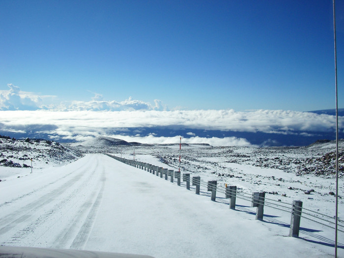 6. You never have to worry about snow making your morning commute a nightmare – unless you work at the summit of Mauna Kea, that is.