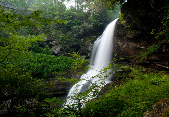 1. A romantic kiss beneath the beautiful Dry Falls. How romantic!