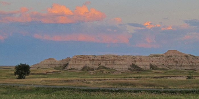 A stunning sunrise at Cedar Creek Campground - sunrises in south dakota
