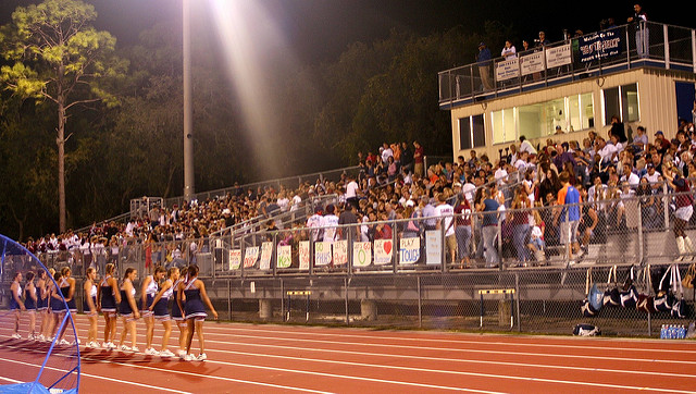 The whole town comes to the football games. - Small High School In South Dakota