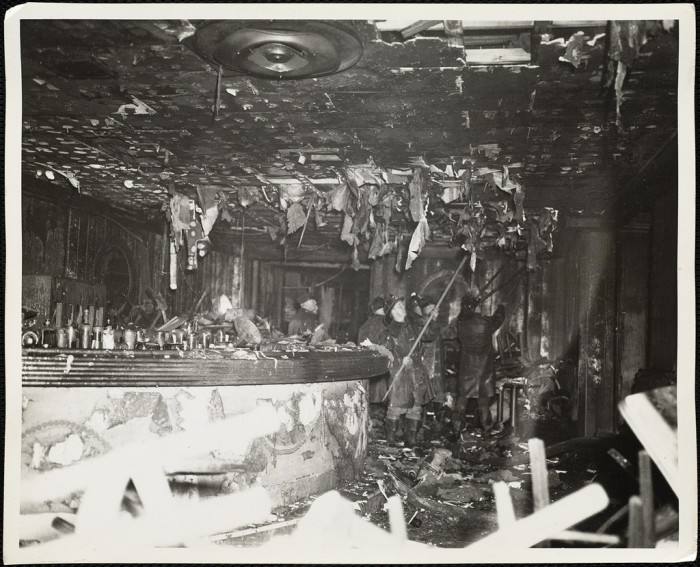 3. When Boston's premier nightclub, The Cocoanut Grove, burned down in 1942. The tragedy replaced World War II headlines in the newspapers.