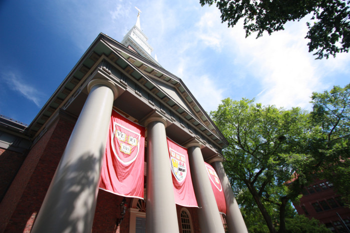 10. Don't forget these crimson banners and imposing colonnade.
