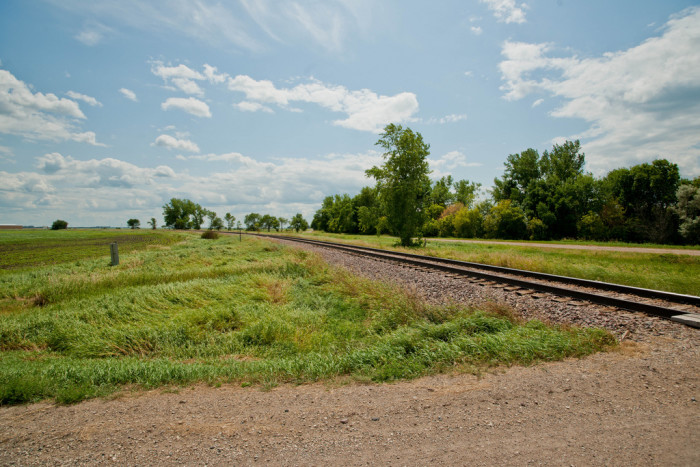 6. These railroad tracks near Everest, ND.