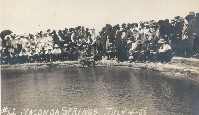 "2. ""Waconda Springs, Kansas, Springs, Diver, July 4th."" (1908)"