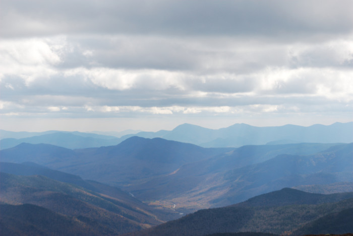 3. This shot taken from Mount Eisenhower shows how many mountains are in New Hampshire.