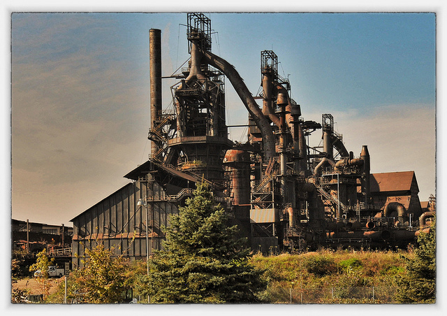 3. Skeletal remains of past Pennsylvania industry remain.