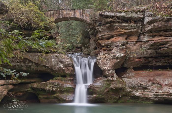 7. Upper Falls, Lower Falls and Cedar Falls (Hocking Hills State Park)