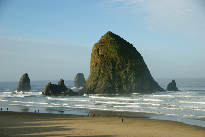 8. This massive seastack is located at Cannon Beach.