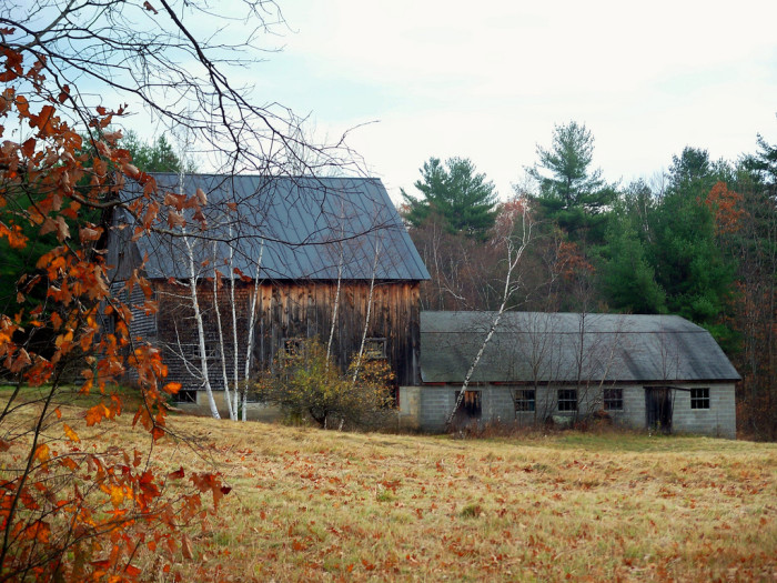 11. This two-tiered barn has seen years of work.