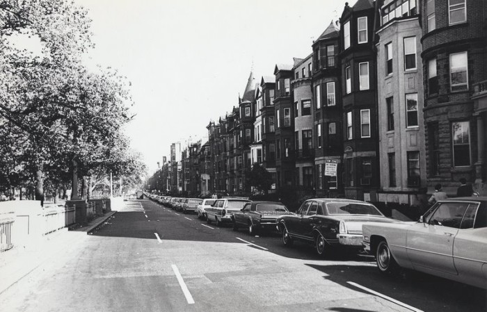 11. South side of Commonwealth Avenue, looking east from Massachusetts Avenue, 1970.