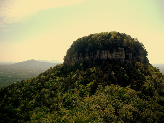6. If you're in the Piedmont - waited till the last minute now everything is booked...Drive to the top of Pilot Mountain, pack a romantic picnic, and catch the sunset.