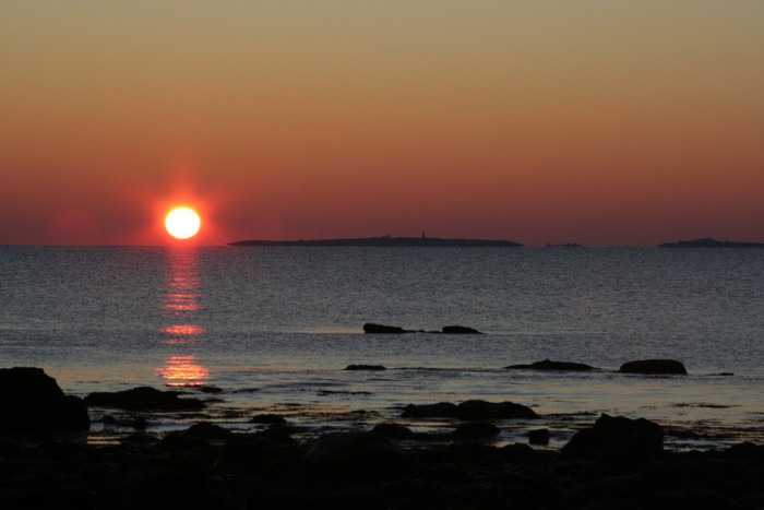 9. You can watch the sun rise over the ocean.