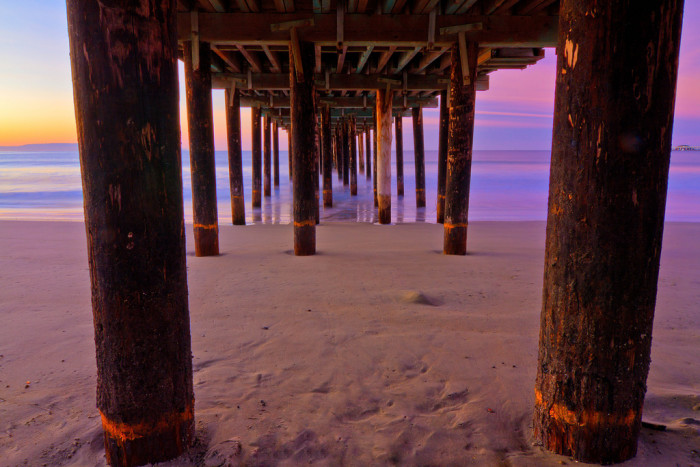 3. A beautiful shot from under the pier at Avila Beach.
